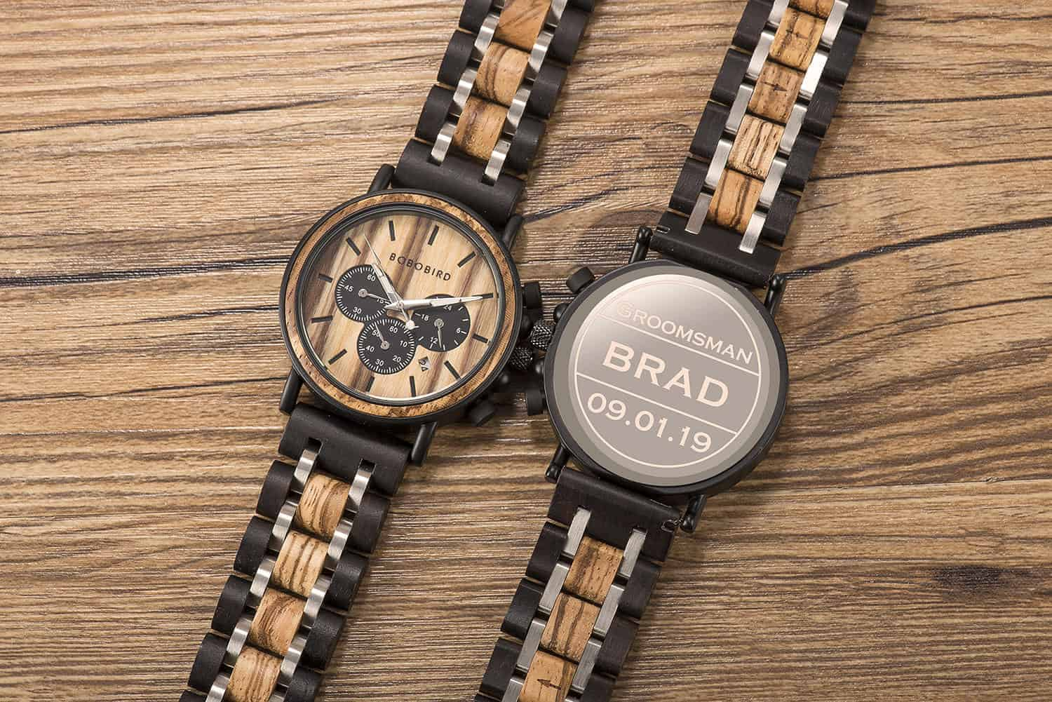 A Wooden Watch Engraved With Words for a Special Someone